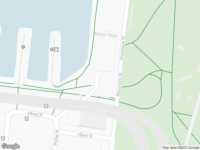 Map, showing Circular Quay, Eastern Promenade
