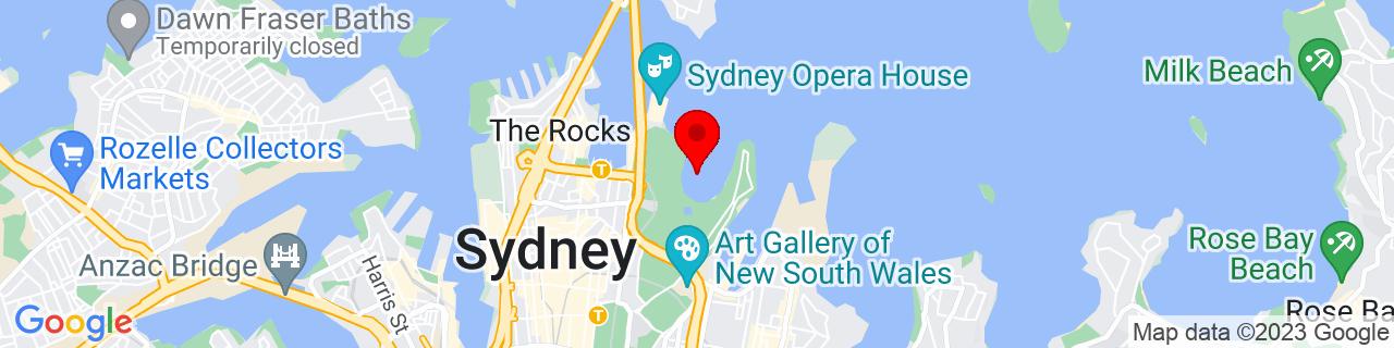 Google Map of -33.86147399999999, 151.2182583