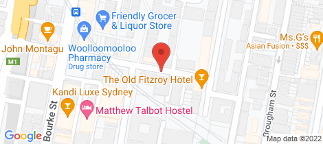 Location map for 1/173 Cathedral Street Woolloomooloo