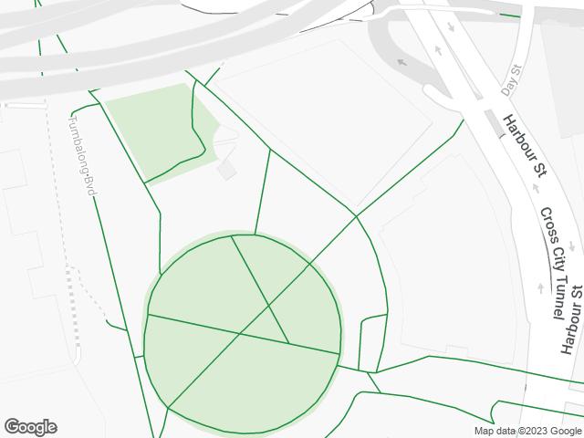 Map, showing Darling Quarter Village Green (North)