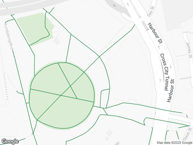 Map, showing Darling Quarter Village Green (South)