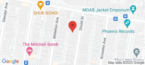 Location map for 5/11 Gould Street North Bondi
