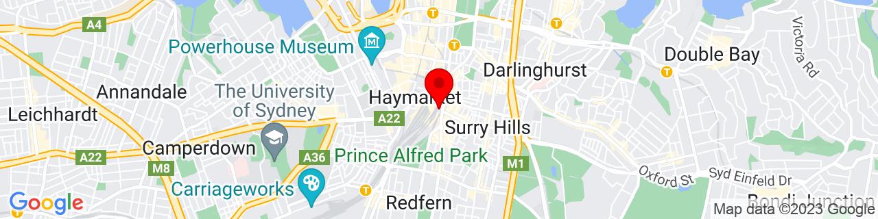 Google Map of -33.883250000000004, 151.20790277777778