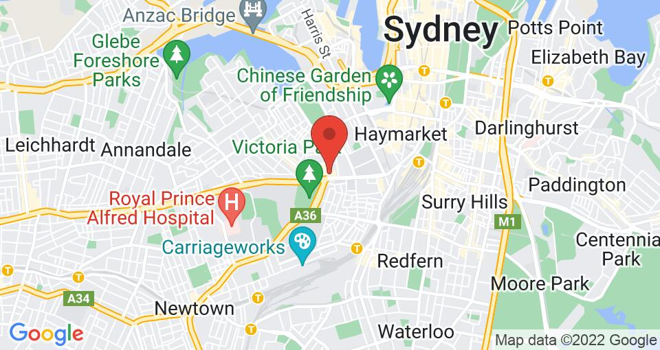 Google Map of UniLodge on Broadway - Student Accommodation Sydney
