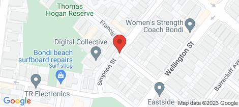 Location map for X Simpson Street Bondi