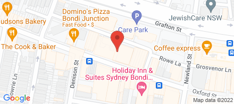 Location map for W1001/310-330 Oxford Sreet Bondi Junction