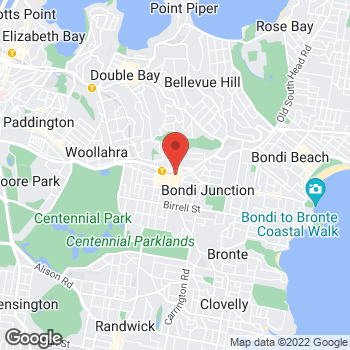 Map of STA Travel at Bondi Junction, Bondi, NSW 2022