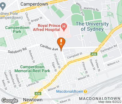 Map of Suite 2A, 155 Missenden Road in Newtown