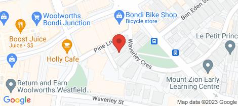 Location map for 6/3 Waverley Crescent Bondi Junction