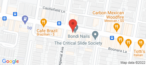 Location map for Shop 13/221-225 Bondi Road Bondi