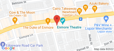 Location map for 2/2-4 Simmons Street Newtown