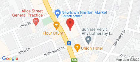 Location map for 1/37 Iredale Street Newtown