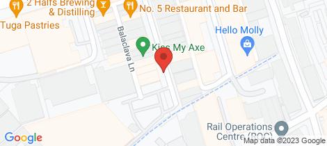 Location map for 25 McCauley Street Alexandria