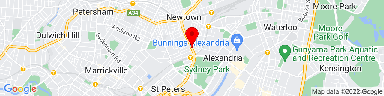 Google Map of -33.90518611111111, 151.18079999999998