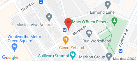 Location map for 1602/2-6 Ebsworth Street Zetland