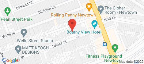 Location map for 15 Darley Street Newtown