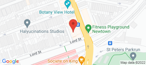 Location map for 24/617-623 King Street Newtown