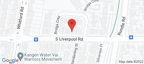 Location map for 159 South Liverpool Road Green Valley