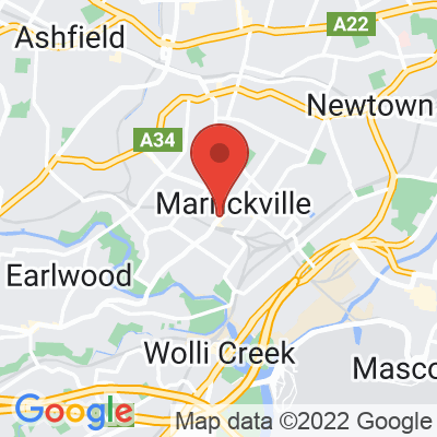 Map showing Cornersmith Marrickville