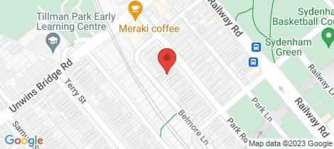Location map for 84 Park Road Sydenham