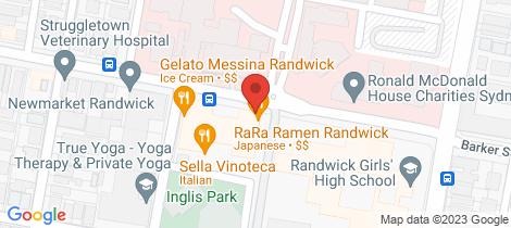 Location map for 106/166 Barker Street Randwick