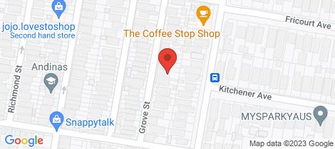 Location map for 64 Grove Street Earlwood