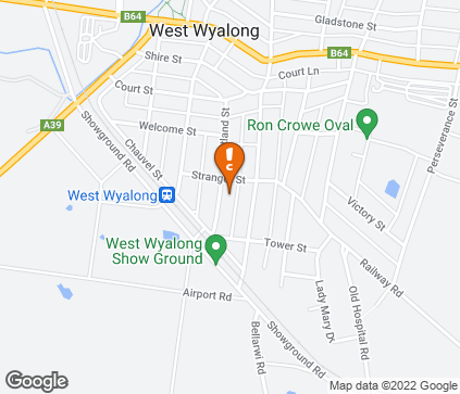 Map of Bland Medical Centre in West Wyalong