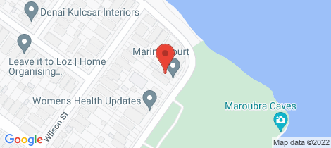 Location map for 3/50 Marine Parade Maroubra