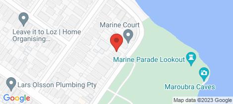 Location map for 303/54-56 Marine Parade Maroubra