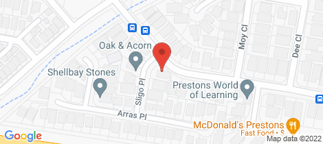 Location map for 2 Sligo Place Prestons