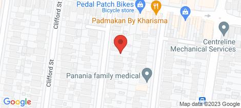 Location map for 35 Hinemoa Street Panania