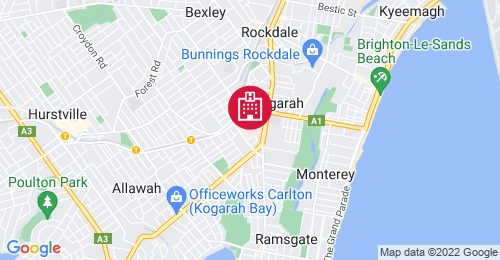 Location of St George Hospital Redevelopment