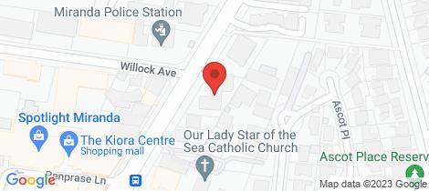 Location map for 10/34-38 Kiora Road Miranda