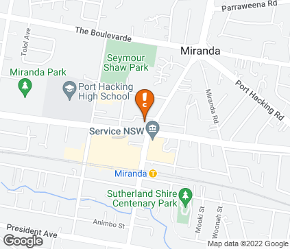 Map of Miranda Medical Centre in Miranda