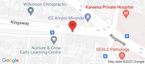 Location map for 18/474 Kingsway Miranda