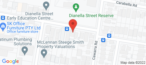 Location map for 10 Dianella Street Caringbah