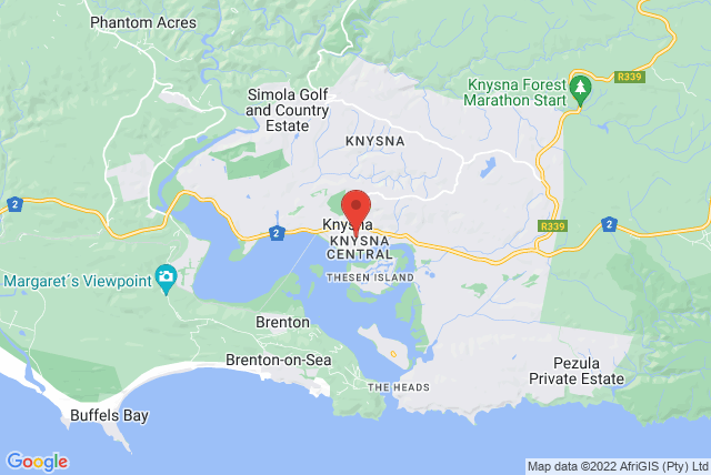 Pilates Knysna Map