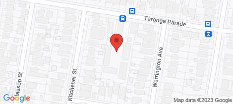 Location map for 30/22-24 Taronga Parade Caringbah