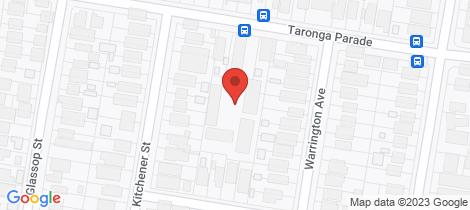 Location map for 38/22 Taronga Parade Caringbah