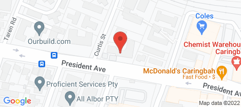 Location map for 31/55 President Avenue Caringbah