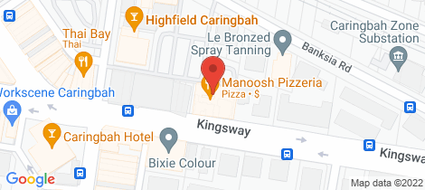 Location map for 28/277 Kingsway Caringbah