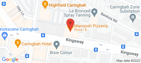Location map for 19/277 Kingsway Caringbah