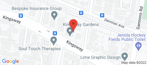 Location map for 21/231 Kingsway Caringbah