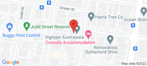 Location map for 10/39 Wyanbah Road Cronulla