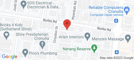 Location map for 5/2-4 Croydon Street Cronulla