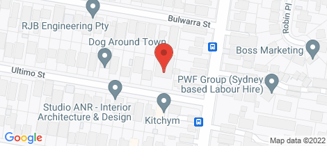 Location map for 1/1-3 Ultimo Street Caringbah