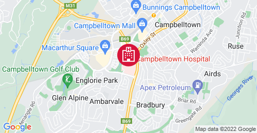 Location of Campbelltown Hospital Redevelopment - Stage 2