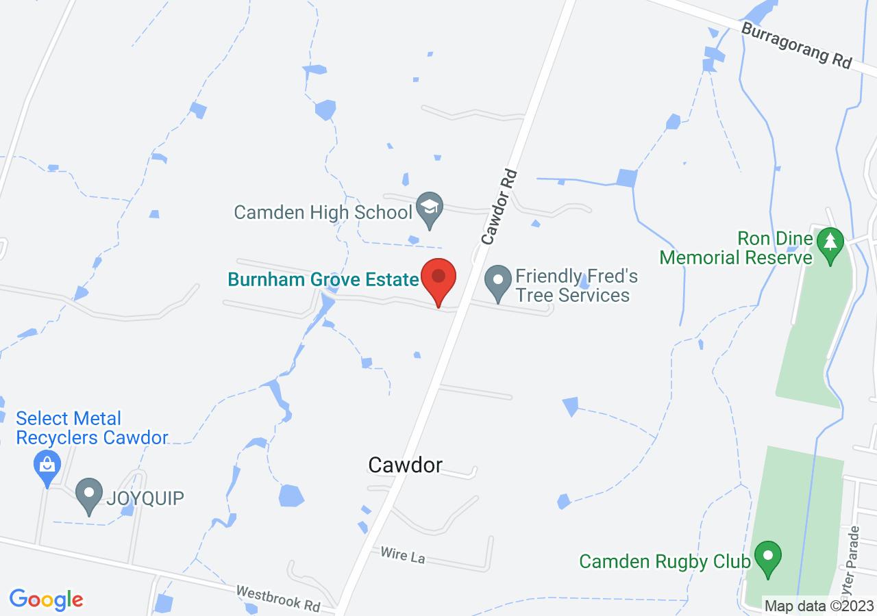 The location of Burnham Grove Estate