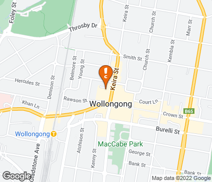 Map of Shop 5A, Lower Ground Floor, Wollongong Central Shopping Centre in Wollongong
