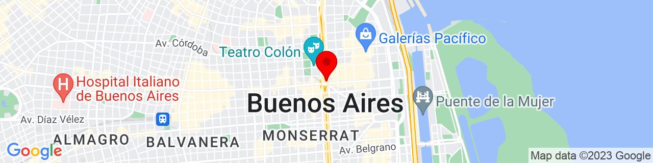 Google Map of -34.60340181061136, -58.38138743862305